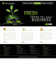 Web site for business black with green sprout