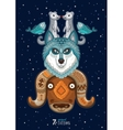 wild totem animal Husky vector image