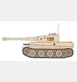world war 2 german tank vector image vector image