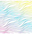 seamless waves of rainbow abstract background vector image