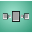 Colorful Wall with empty Picture Frame vector image