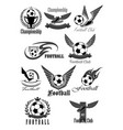 football club icons for soccer championship vector image