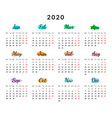 2020 year creative calendar isolated on white vector image vector image