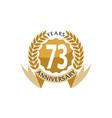 73 years ribbon anniversary vector image vector image