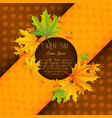 abstract autumn advertising template vector image vector image