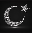 abstract crescent moon and star vector image