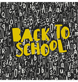 Back to school poster design with seamless letters vector image
