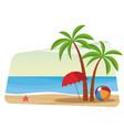 beautiful beach cartoon vector image vector image