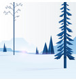blue trees in forest vector image vector image
