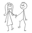 cartoon of heterosexual couple of man and woman vector image