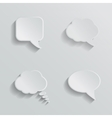 Chat bubbles - paper cut design White color on vector image