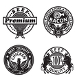 collection of grill labels vector image vector image