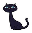 comic cartoon black cat vector image vector image