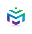 concept of m letter logo vector image vector image