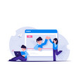 concept on-line video or live streaming the vector image vector image
