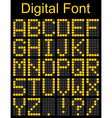 Dot font on Digital Board vector image