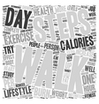 Exercise for Everyone text background wordcloud vector image vector image
