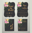 floral wedding invitation save the date card with vector image vector image