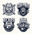 football and baseball teams logos vector image vector image