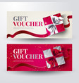 gift voucher set for christmas with present vector image