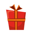 giftbox present cartoon isolated vector image vector image