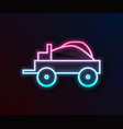 glowing neon line wild west covered wagon icon vector image vector image