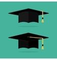 Graduation cap flat vector image