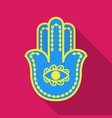 Hamsa icon in flat style isolated on white