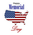 happy memorial day card vector image vector image