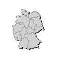 map germany with regions vector image vector image