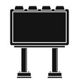 modern billboard icon simple style vector image vector image