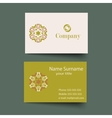 Modern simple light business card template vector image vector image