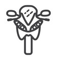 motorcycle line icon transport and vehicle vector image
