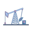 Oil rig icon cartoon style vector image vector image
