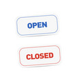 open and closed signboards tags isolated vector image vector image