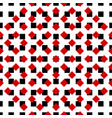 ornament-pattern-red-black vector image vector image
