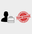person case icon and grunge found baggage vector image vector image