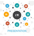 presentation trendy web concept with icons vector image vector image