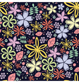 Seamless floral pattern with a lot of little vector image vector image