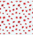 seamless pattern with red leaves japanese maple vector image vector image