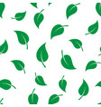 seamless template texture with green leaves vector image vector image