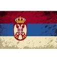 Serbian flag Grunge background vector image vector image