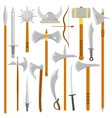 set edged weapons vector image