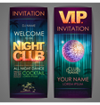 Set of disco background banners Night club poster vector image vector image