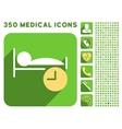 Sleep Time Icon and Medical Longshadow Icon Set vector image vector image