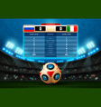 soccer score board football world russia vector image vector image