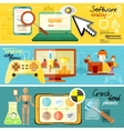 Software testing games and crash test vector image vector image