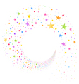 Stream of Multicolored Stars vector image vector image