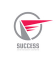 success - business logo template concept vector image vector image