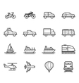 Transportation and Vehicles icons vector image vector image